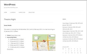 An event page (single-event.php)