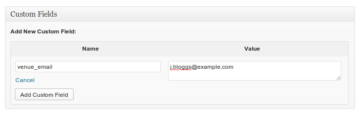 You can assign an email to a venue via the custom fields metabox, and email the venue when a booking is made.