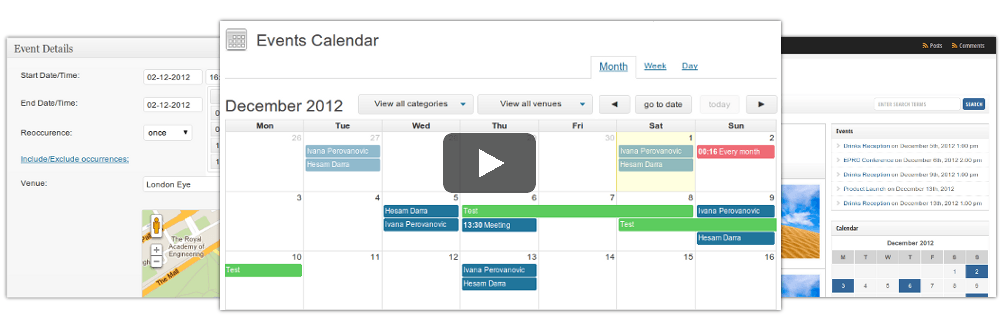 WordPress Event Management, Calendars & Registration